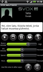 SVOX Finnish Satu Trial screenshot 0