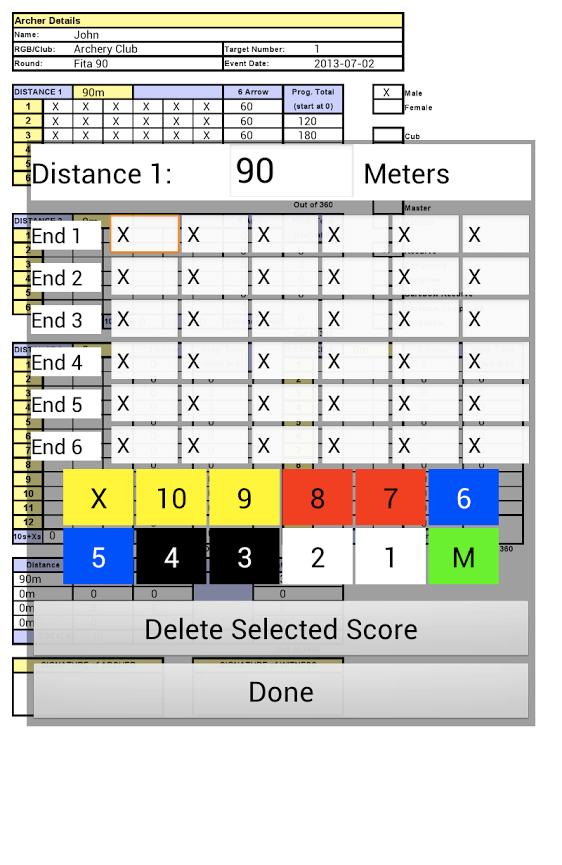 Score Sheets Archery 4 H