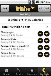 DrinkFit Calorie Tracker screenshot 1