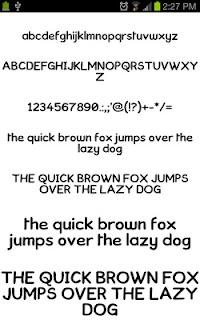 Neat Fonts for FlipFont free screenshot 00