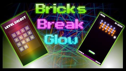 Bricks Break Glow screenshot 0