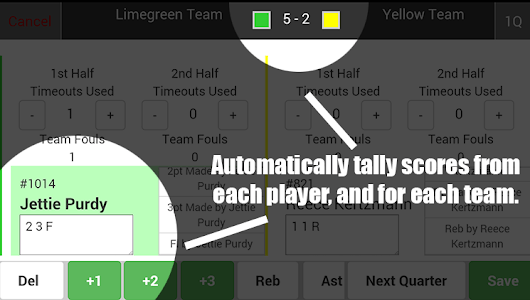 Scorebook - Basketball Leagues screenshot 0