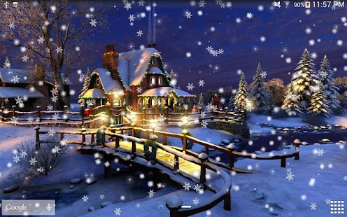 Snow Night Live Wallpaper HD Android Apps On Google Play