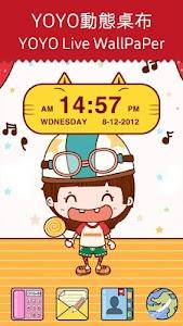 Cute Kitty Cat Clock Widget screenshot 0