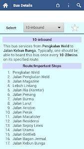 Penang Bus Info screenshot 1