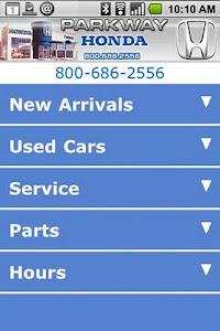 Parkway Honda screenshot 1