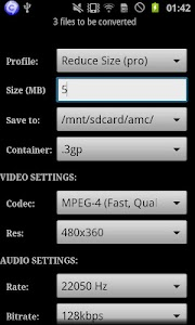 ARMV7 VFPV3 VidCon Codec screenshot 4