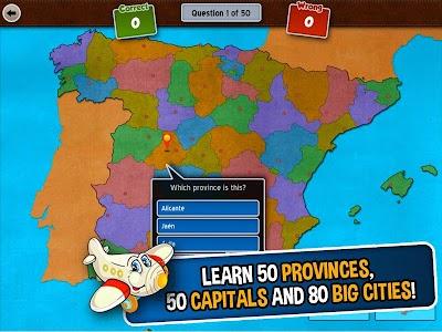 GeoFlight Spain: Geography screenshot 11