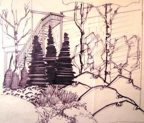 landscape rendering, garden-plan