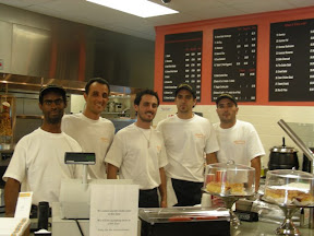 The Gloden Ball Owners and some staff, Check out that menu in back