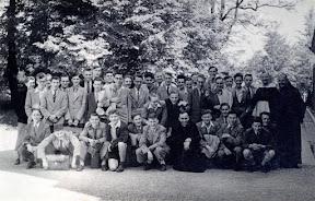 Retraite van de klasgenoten van het O.L.Vrouwcollege in Forges La Trappe, 13 tot 17 mei 1952