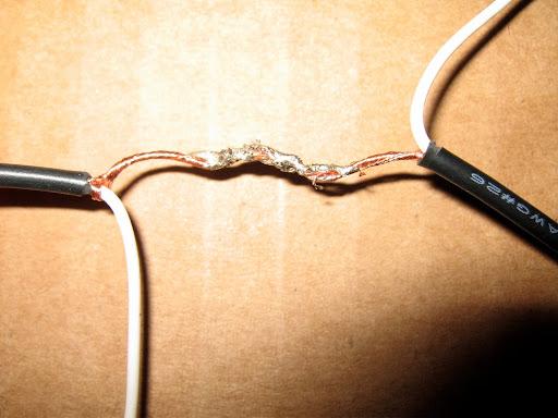 solder coated wires