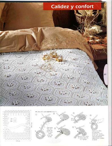 مفارش سرير كروشية بالبترون طريقة عمل مفارش كروشية للسرير