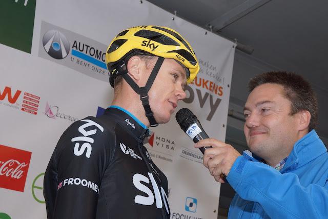 Chris Froome bij Niko De Muyter
