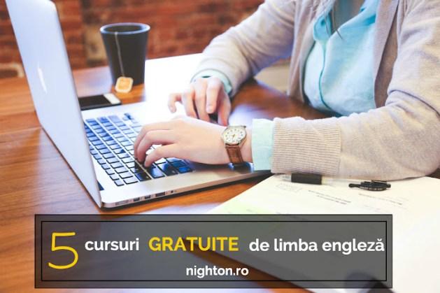5 cursuri GRATUITE de limba engleză