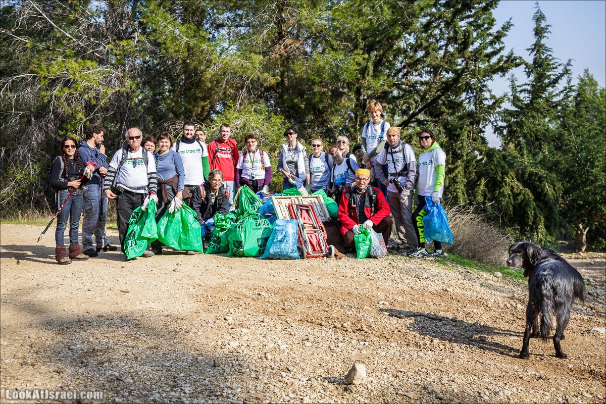 Добровольно-Полезная операция по очистке леса Бен-Шемен | LookAtIsrael.com - Фото путешествия по Израилю