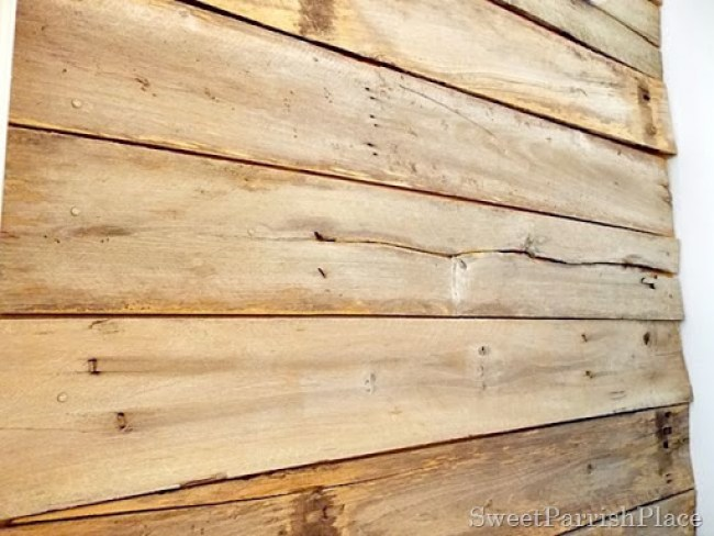 DIY Rustic Wood Wall- For Free!