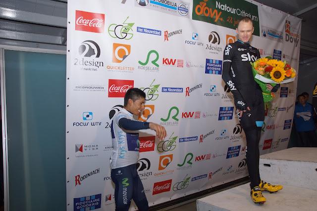 Quintana en Froome op het podium