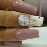 3D Flowers Nail Designs 2017 2018