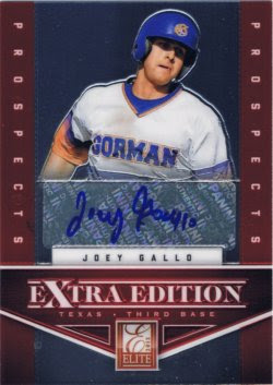 2012 Panini Prizm Joey Gallo Elite EEE Auto