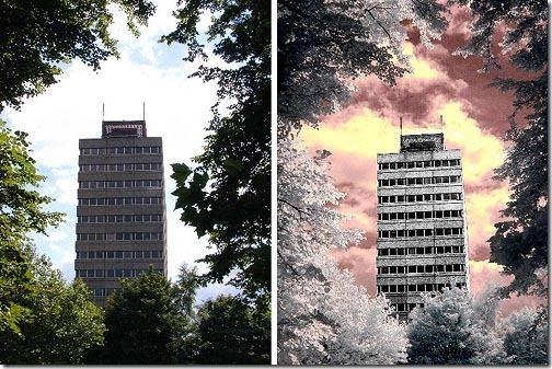 hasil infrared filter camera