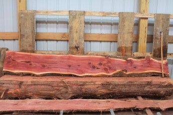 "Cedar 282-7  Length 10' 6"" Max Width (inches) 16 Min Width (inches) 9 Thickness 6/4  Notes : Kiln Dried"