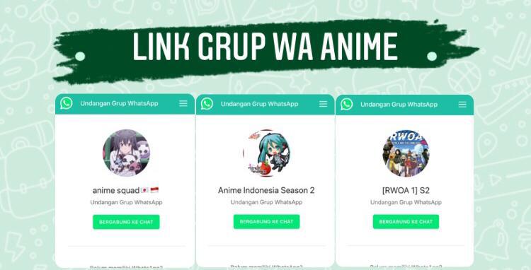 100 Link Grup Whatsapp Anime Wibu Otaku 2021