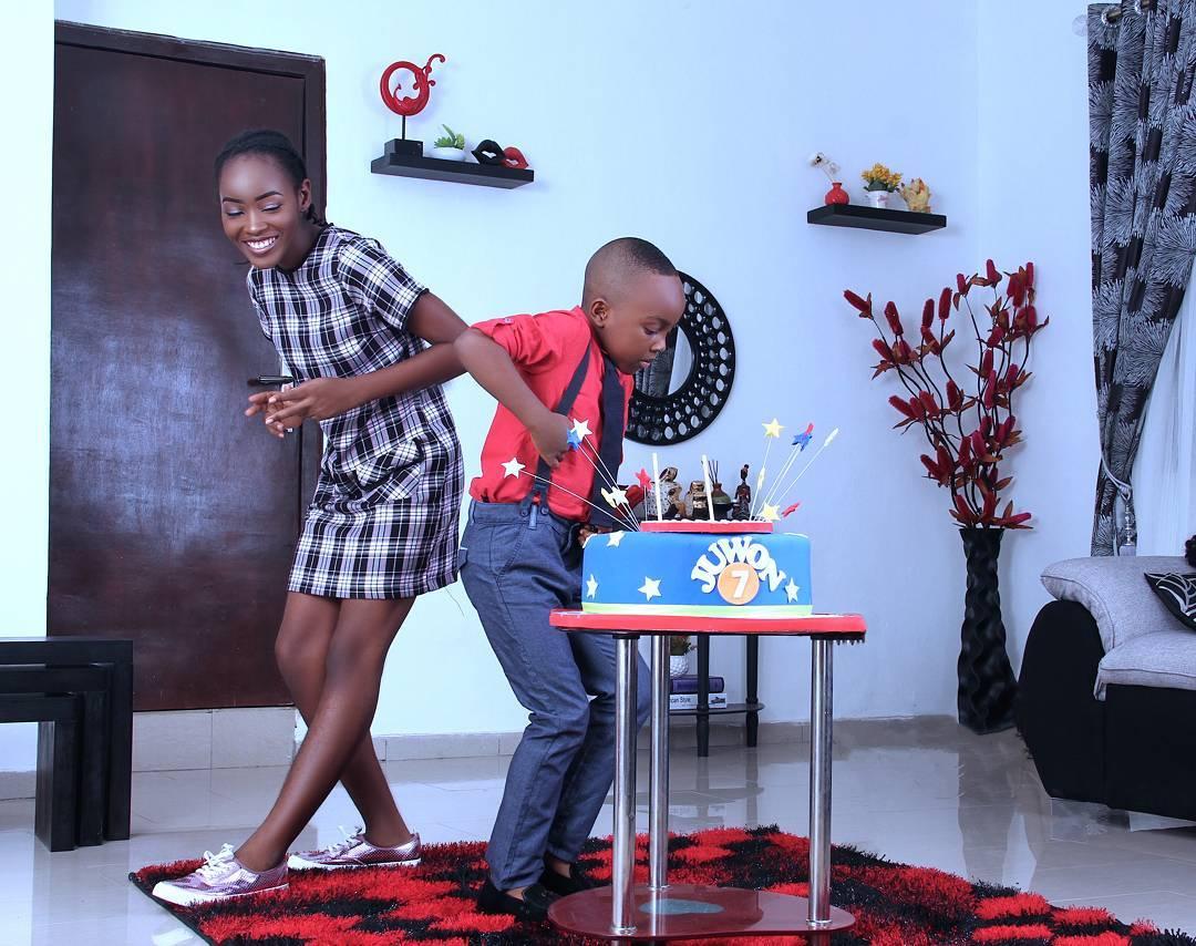 Olajuwon Photos: Mercy Aigbe Celebrates Her Son On His 7th Birthday