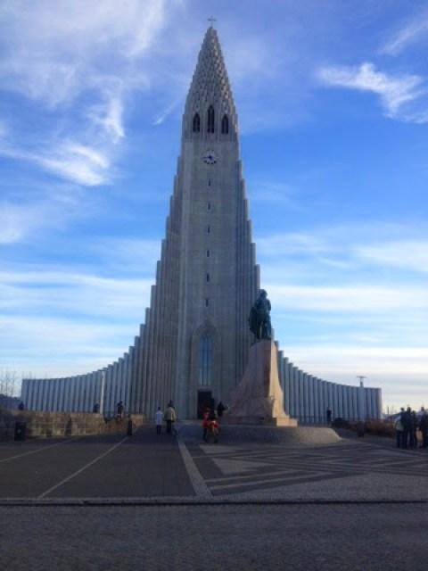 Hallgrimskirkja Church - the steep catherdal in Reykjavic