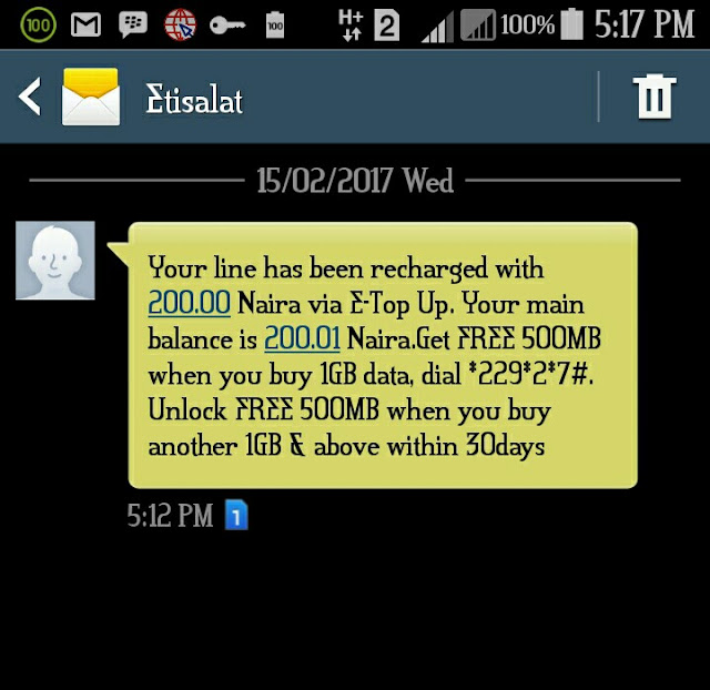 How To Get Free N200 Airtime On Etisalat 1