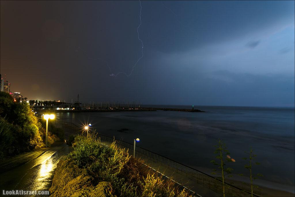 Молния над Тель Авивом и Яффо