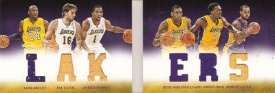 12/13 Panini Preferred Lakers Book Card