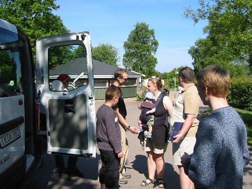 Lägret inleds med samling på Möllehässle caming