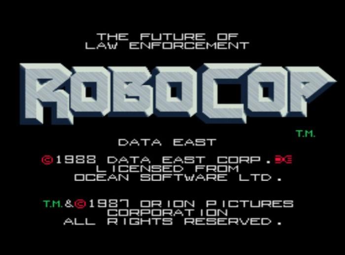 Tela título de Robocop para arcade