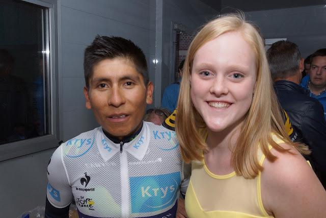 Laura  Gevaert en Nairo Quintana
