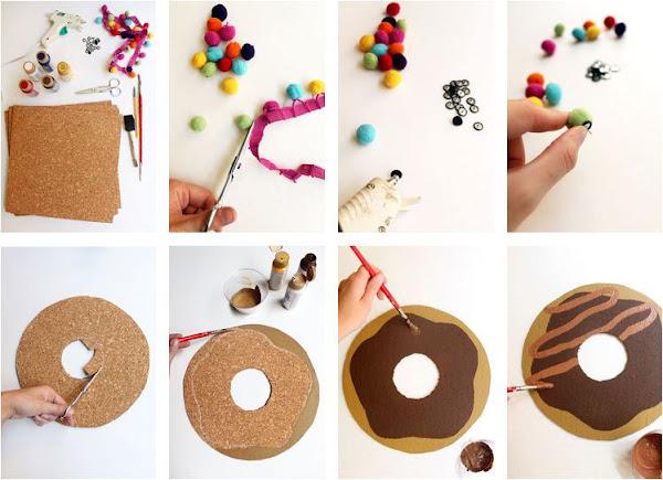 Corcho rosquilla para decorar el escritorio