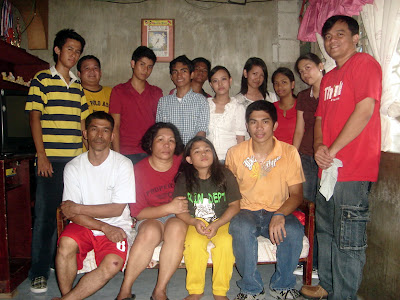 March 21: John Rommel Carpio with father, mother and youngest sister
