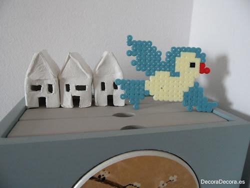 Pájaro hecho con hama beads