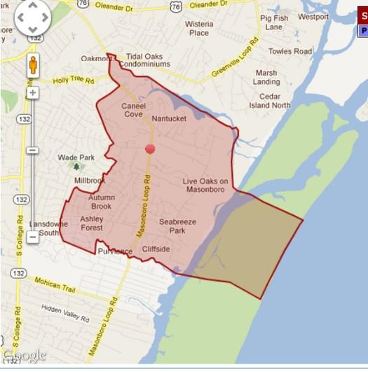 parsley elementary school boundary wilmington