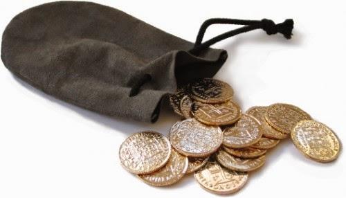 Una bolsa de monedas.