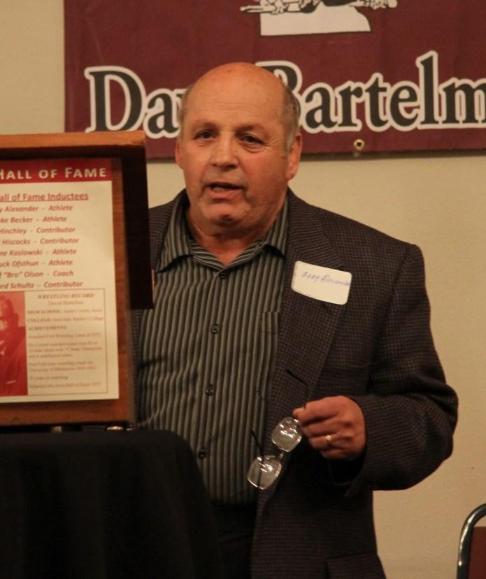2012 Bartelma Hall of Fame inductee Gary Alexander.