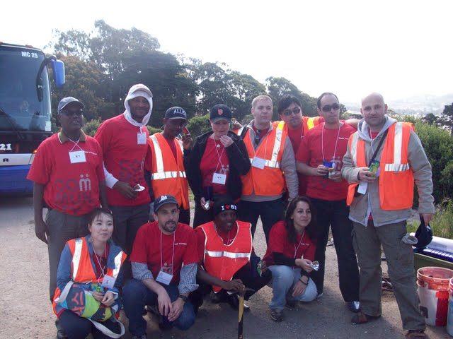 IVLP 2010 - Volunteer Work at Presidio Trust - 100_1418.JPG
