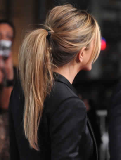Teased Ponytail Hairstyle