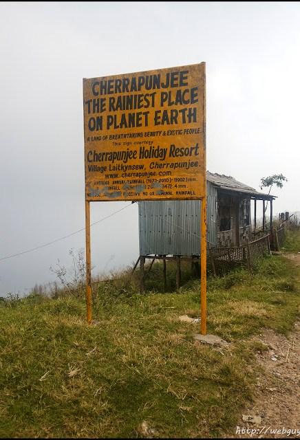 Cherrapunjee meghalaya board