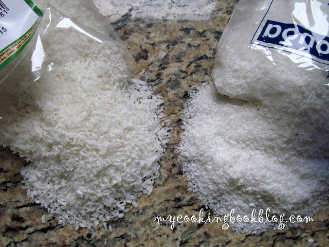 едри кокосови стърготини (desiccated coconut) и ситни кокосови стърготини