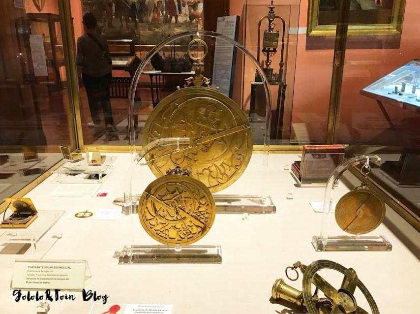 Elementos de navegación en el museo Naval de Madrid