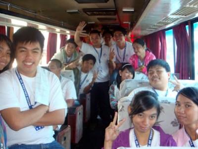 March 25: Inside Tourist Bus