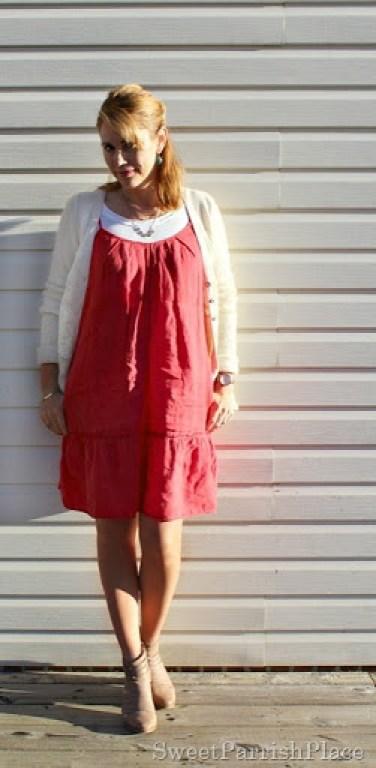 red-dress-cream-cardi-booties-7