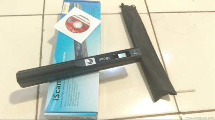 tutorial menggunakan portable scanner iscan