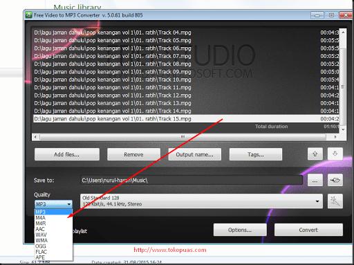 cara merubah file video menjadi file mp3